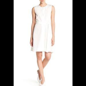 Theory desza crepe dress sz 2 new with tag ivory